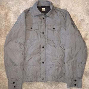 Grey puff pocket jacket